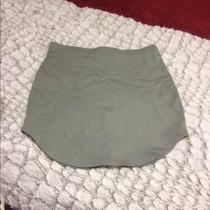 Irregular grey skirt